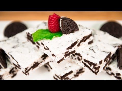 No Bake Oreo Marshmallow Bars - Mályvacukros oreo sütik sütés nélkül