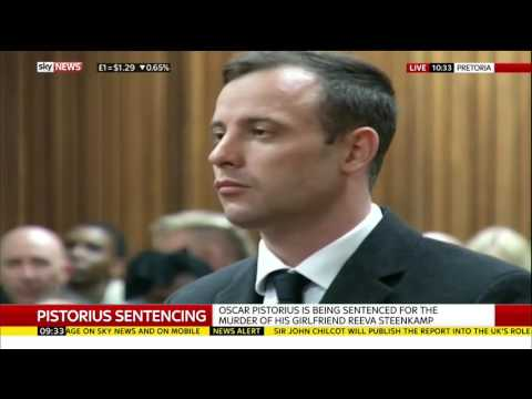 Oscar Pistorius Jailed For Six Years
