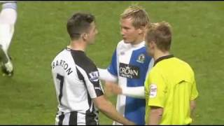 Joey Barton punches Morten Gamst Pedersen in the chest