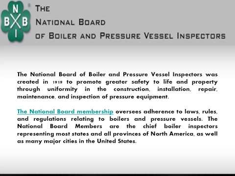 national board of boilers and pressure Power boilers (over 15 psi steam or vapor pressure): an annual  website for  the national board of boiler and pressure vessel inspectors related links to.