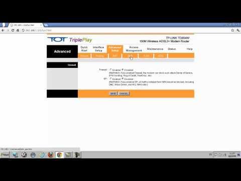 TP-LINK ADSL Modem Router รุ่น TD854W วิธีการตั้งค่า Qos.mp4