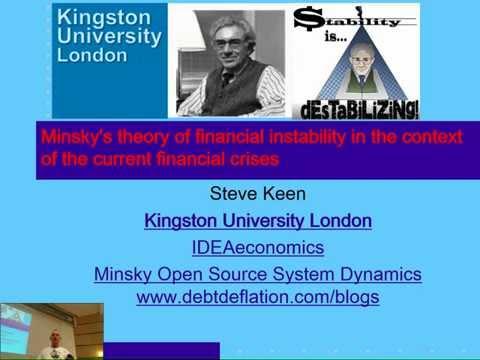 Zagreb talk on Minsky's Financial Instability Hypothesis & the crisis of 2008