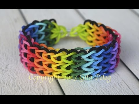 How to make a multicolor rainbow Loom, Triple Single bracelet. This bracelet is my best seller.