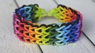 How to make a multicolor rainbow Loom, Triple Single bracelet. This bracelet is my best seller.