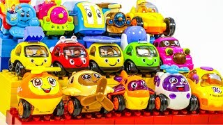 Learning Color baby car sand play and city rescue Vehicle transforming Play toys video for kids