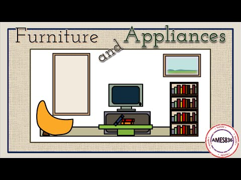 Furniture And Appliances,  English Vocabulary Lesson