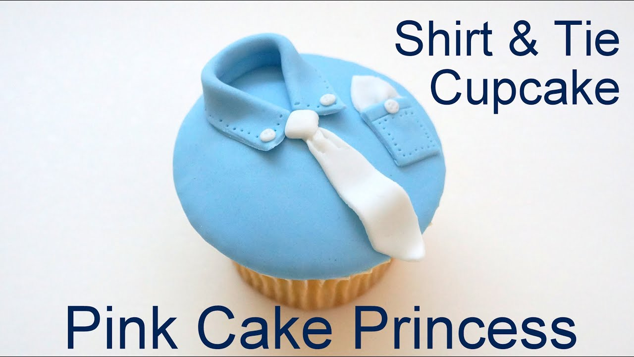 Father s Day Shirt & Tie Cupcake Decorating How to by Pink ...
