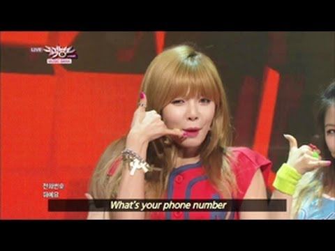 4Minute - What's Your Name? (2013.06.22) [Music Bank w/ Eng Lyrics]