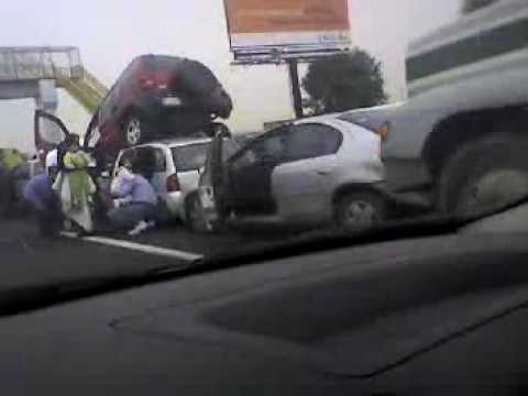 Accidente carretera Puebla Mexico