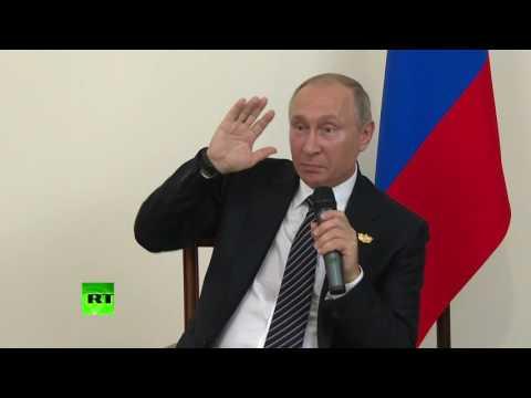 'Maybe I said something wrong': Blackout as Putin talks about NSA surveillance at BRICS presser