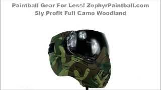 Sly Profit Full Camo Thermal Paintball Mask Woodland ZephyrPaintball.com 360 View SLY 2030 40638