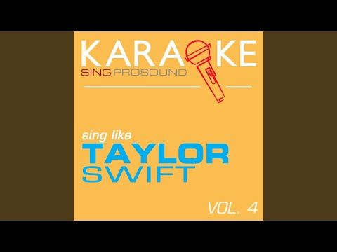 Cold as You (In the Style of Taylor Swift) (Karaoke Instrumental Version)