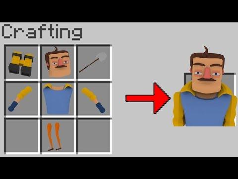 Minecraft   HOW TO SUMMON THE NEIGHBOR! (Hello Neighbor in Minecraft)