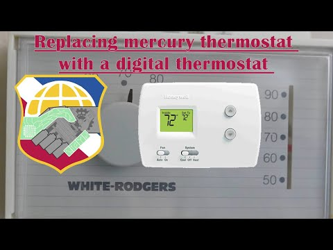 Replacing mercury thermostat with a digital thermostat - install wiring white rogers honeywell