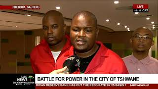 ANC and EFF staged a walkout at the Tshwane council