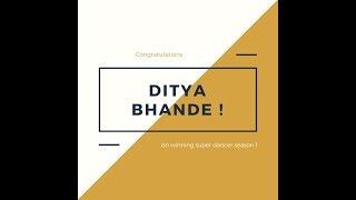 Super Dancer Season 1 winner : Ditya Bhande & Ruel Dausan