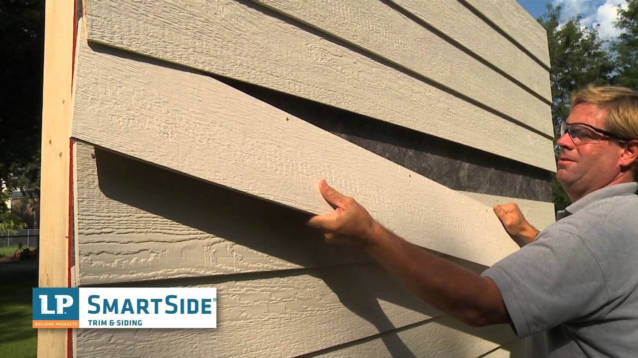 Lp 174 Smartside 174 Withstands Tear Off Vs Fiber Cement Youtube