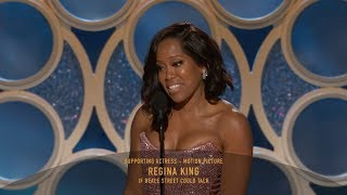 [HD] Regina King Wins Best Supporting Actress | 2019 Golden Globes