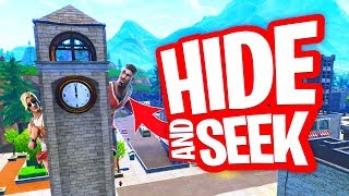 VERSTOPPERTJE MET VOGELJONGEN IN TILTED TOWERS!! HIDE AND SEEK in FORTNITE PLAYGROUND!