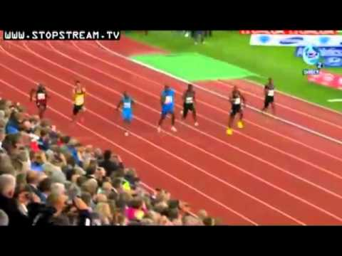 USAIN BOLT 9.79. OSLO BISLETT GAMES 2012 . DIAMOND LEAGUE.
