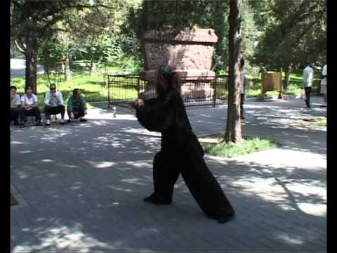 Yang Jian Hou (T'ai Chi Ch'uan) Master Zhang's demonstration for Master Jin