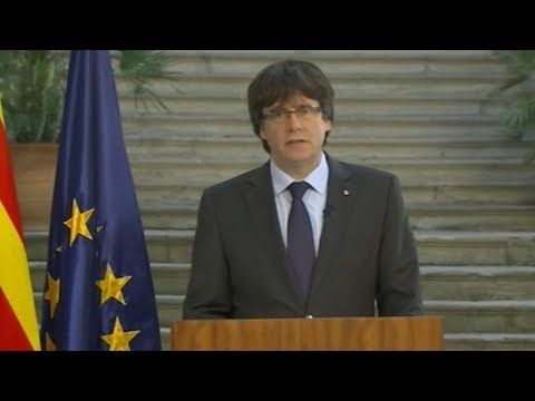 Sacked Catalan leader calls for democratic opposition
