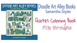 Doodle Art Alley Books - Mistakes are proof that you are trying (quotes coloring book)