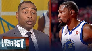 Cris Carter praises Kevin Durant in Warriors' Game 1 win over Rockets | NBA | FIRST THINGS FIRST