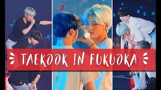 taekook piggyback, tae holding jk by his waist (again) || taekook fukuoka moments d-1&2