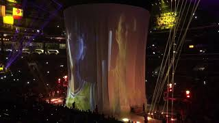 Full Lakers Game Pregame Festivities at Staples Center 2018 Lebron era Starting Lineups