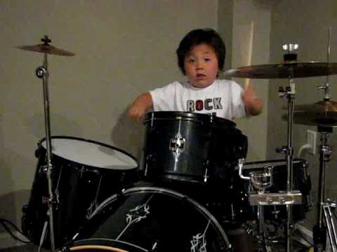 4 Year Old Drum Prodigy Aidan Plays Wipeout ! Music Videos