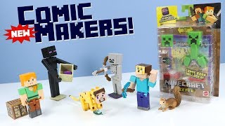 Minecraft New Comic Maker Action Figures & App Review Mattel Toys