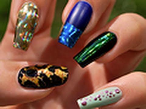 Nail Art Application Nail Art Utilisation Des Foils
