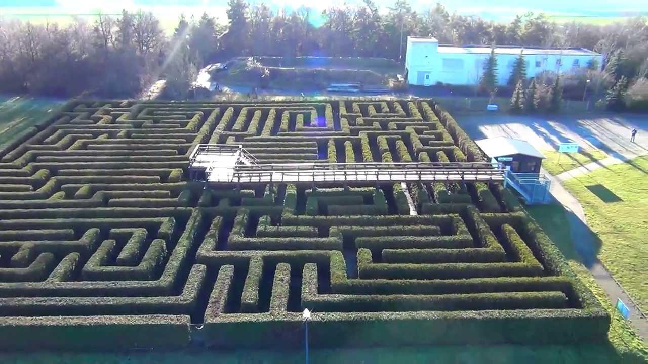 Irrgarten Eckartsberg Airspektive Labyrinth Youtube