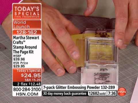 Martha Stewart Crafts Stamp Around The Page Kit
