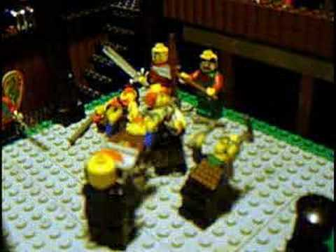 Bloody Lego Fight Scene - Greatest Lego Fight Scene Ever Video