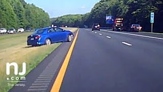 Dashcam captures out-of-control driver on New Jersey Highway  from NJ.com