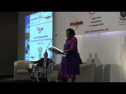 Hon Prof Hlengiwe Mkhize, Deputy Minister of Economic Development, SA, Innovation Africa Summit 2012