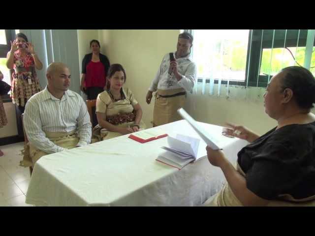 Tongan Weddings at the Registry Office 12th Dec 2013.