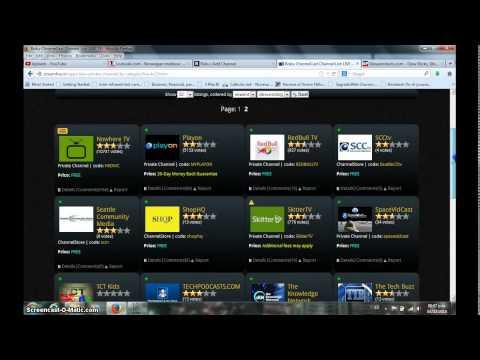 Como añadir canales a ROKU desde su cuenta ROKU en línea América Latina