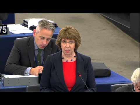 Catherine Ashton - Statement on Syria (Part 1), European Parliament, 11 September 2013