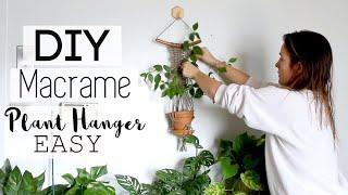 DIY Macrame Hanging Planter Tutorial   Beginner Hanging Planter HOWTO