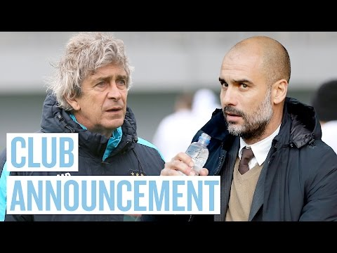 Pep Guardiola to Manage Manchester City | Club Announcement
