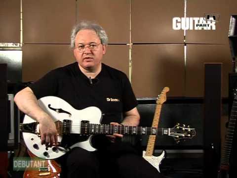 Présentation de différentes guitares