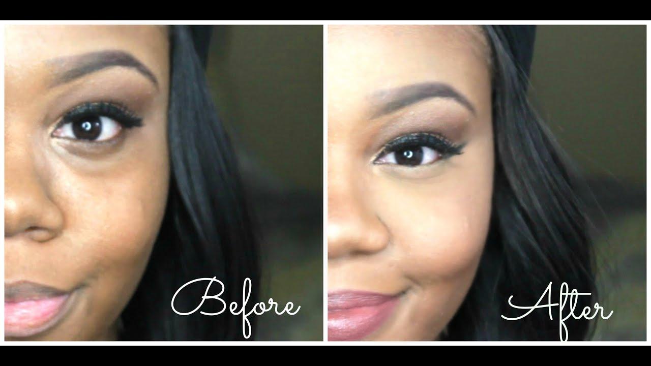 Under eye hollows makeup