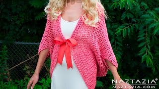 DIY Tutorial - Easy Crochet Mesh Sweater Cardigan Cocoon - Crocheted Clothes Clothing