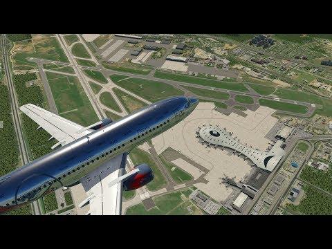 """Новый """"Внуково"""". Из Лейпцига в Москву. Boeing 737-300 для X-Plane 11."""