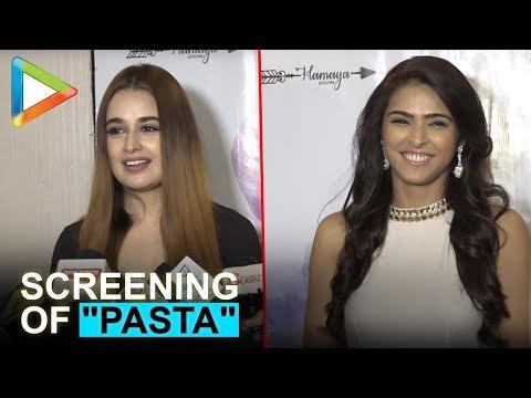 "Yuvika Chaudhary & Madhurima Tuli at special screening of short film ""Pasta"""