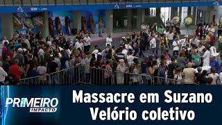 Emoção toma conta de velório de seis vítimas de massacre em Suzano | Primeiro Impacto (14/03/19)