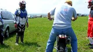 Mario's first ride on his 2008 Honda CRF150R @ Pittsburgh Raceway Park